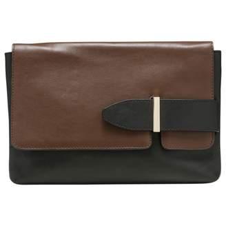 Tila March Black Leather Clutch Bag