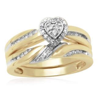 MODERN BRIDE 1/5 CT. T.W. Diamond 10K Two-Tone Engagement Ring