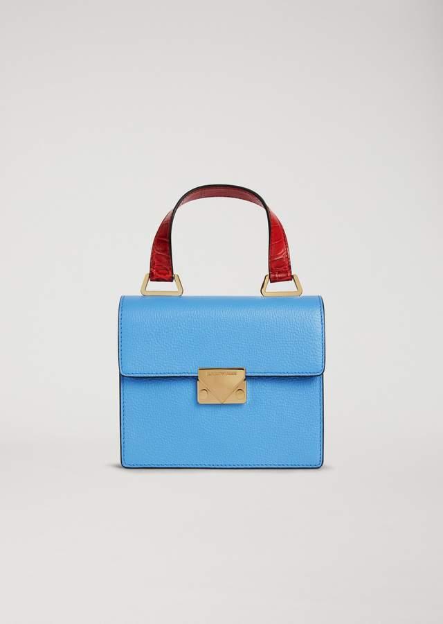 EMPORIO ARMANI mini bag with crocodile print handle