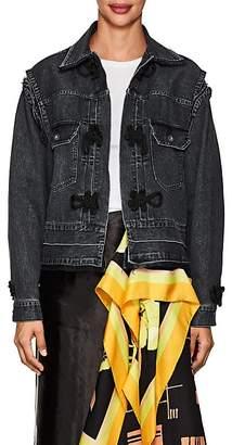 Sacai Women's Knot-Detailed Denim Trucker Jacket