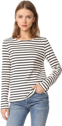 Petit Bateau Leny Long Sleeve Striped Tee $92 thestylecure.com