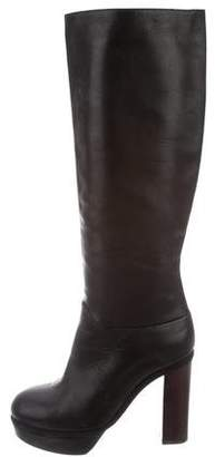 Marni Leather Rounded-Toe Boots