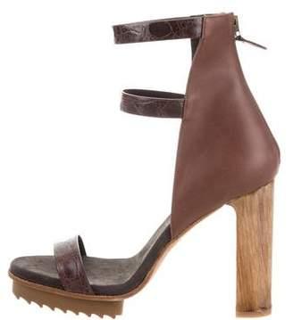 Brunello Cucinelli Embossed Platform Sandals