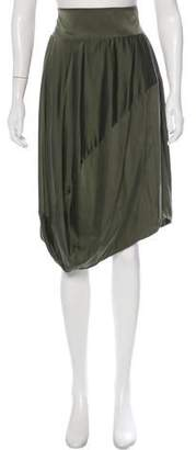 Pierre Balmain Silk Knee-Length Skirt w/ Tags