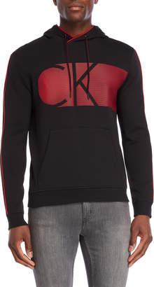 Calvin Klein Striped Logo Pullover Hoodie
