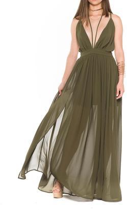 Bella Olive Maxi Dress $72 thestylecure.com