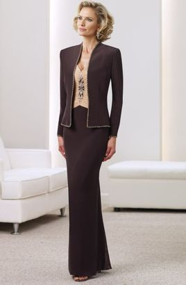 Montage by Mon Cheri - 211902 Two Piece Dress In Cocoa Champagne $505 thestylecure.com