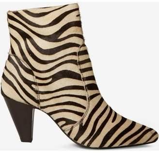 Dorothy Perkins Womens Multi Coloured Zebra Design Leather 'Attitude' Ankle Boots