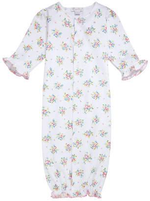 Kissy Kissy Petite Pansies Pima Convertible Gown, Size Newborn-S