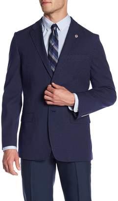 Ben Sherman Navy Polka Dot Two Button Notch Lapel Jacket