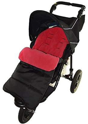 Footmuff/Cosy Toes Compatible with Mountain Buugy Terrain Pushchair Fire Red