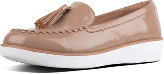 FitFlop Petrina Crinkle-Patent Moccasin Loafers