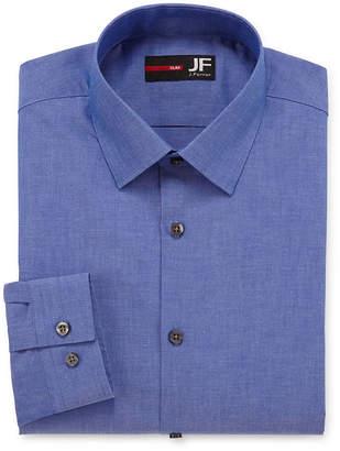 Jf J.Ferrar Easy-Care Stretch Mens Long Sleeve Stretch Dress Shirt