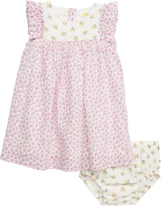 Boden Mini Mixed Floral Print Woven Dress