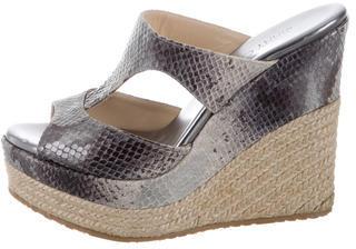Jimmy ChooJimmy Choo Embossed Platform Sandals