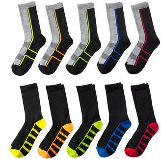 Boys Tek Gear® 10-Pack Liner Crew Socks $14 thestylecure.com