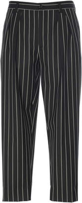 Dolce & Gabbana Pinstriped Wool-Blend Cropped Pants