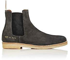 Common Projects Men's Suede Chelsea Boots-Gray