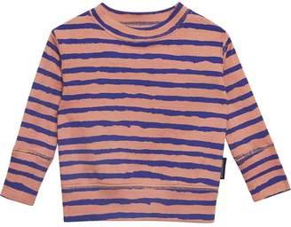 Burberry Striped Rib Knit Cotton Sweatshirt