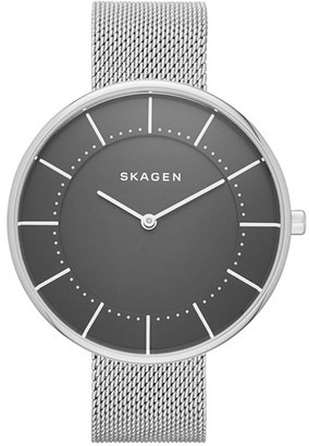 Skagen Gitte Round Mesh Strap Watch, 38mm $105 thestylecure.com