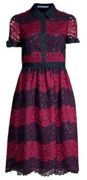 Draper James Striped Lace Collection Dress