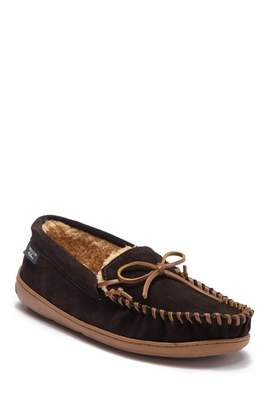 WALLIN & BROS Mr. Ottawa Leather Faux Fur Moccasin Slipper