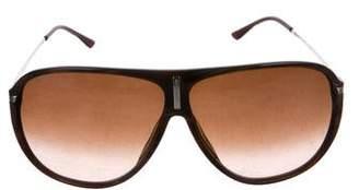 Versace Oversize Aviator Sunglasses
