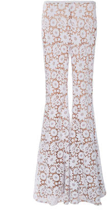 Michael Kors Palazzo Cotton Bell Bottom Pants