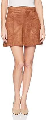 BCBGMAXAZRIA Women's Corinne Faux-Suede Mini Skirt