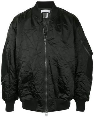 Facetasm wrinkled bomber jacket