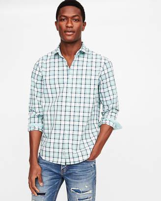 Express Classic Fit Plaid Soft Wash Shirt