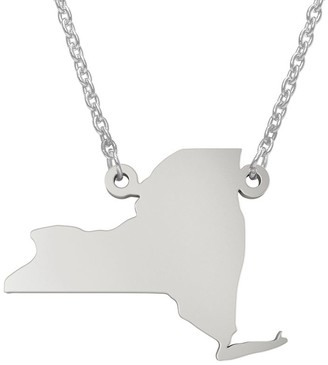 State Pendant Necklace, Sterling Silver