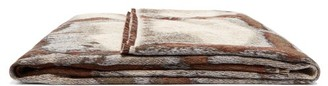 Serapis Maritime - Grid Cotton Jacquard Blanket - Brown