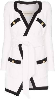 Alexandre Vauthier belted tweed blazer dress