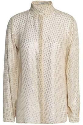 Etro Metallic Fil Coupé Silk-Blend Shirt