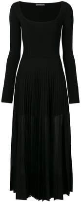 Alexander McQueen longsleeved pleated dress