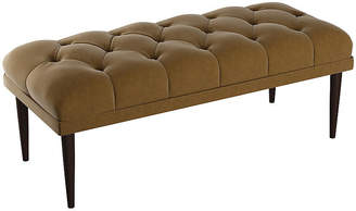 One Kings Lane Carrie Tufted Bench - Sand Velvet