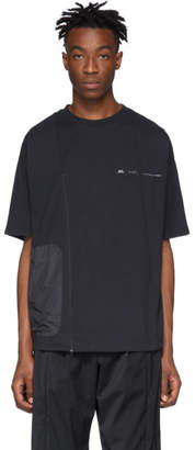 Oakley By Samuel Ross by Samuel Ross Grey Zip Panelled T-Shirt
