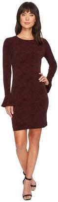 MICHAEL Michael Kors Floral Mesh Flounce Dress Women's Dress