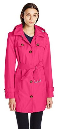 Tommy Hilfiger Women's Single Breasted Trench Coat $190 thestylecure.com