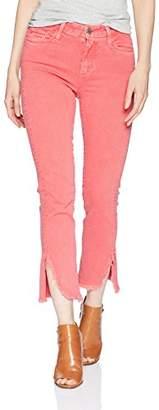 "Paige Women's Hoxton Straight Ankle 27"" w/Slit Fray Hem"
