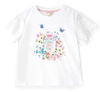 Yumi Girls Girls Perfume Print Lace Tee