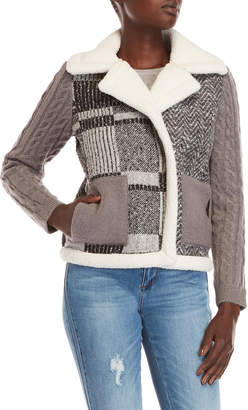 Desigual Ceci Mix-Knit Jacket