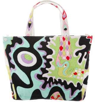 Emilio Pucci Printed Terry Cloth Tote Bag