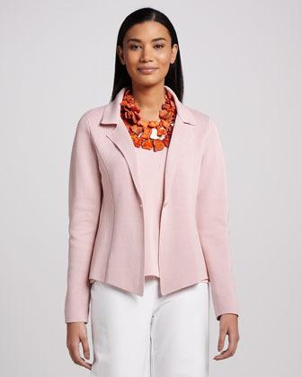 Eileen Fisher Interlock One-Button Jacket, Petite
