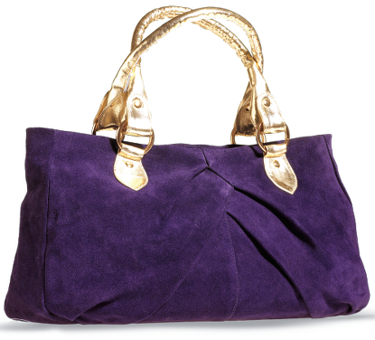 Pleated Suede Bag