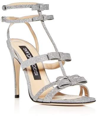 Sergio Rossi Women's Glitter Bow High-Heel Sandals