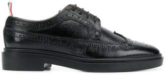 Thom Browne Pebble Grain Longwing Brogue With Rubber Sole