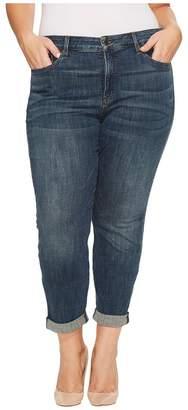 NYDJ Plus Size Plus Size Boyfriend Jeans in Crosshatch Denim in Desert Gold Women's Jeans