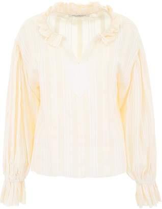 Philosophy di Lorenzo Serafini Ruffled Collar Polo Shirt